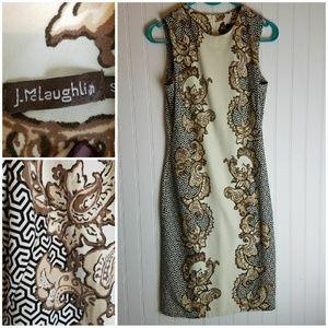 J. McLaughlin Sleevless Paisley & Geometric Dress